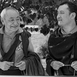 Guèndun Rinpoche and 14th Shamarpa