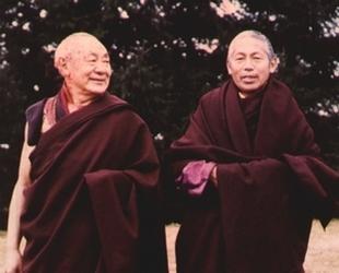 Guendun Rinpotché et Lama Teunzang