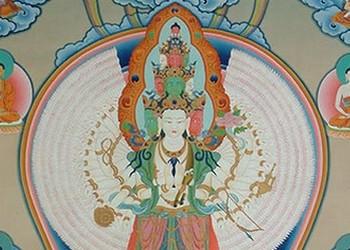 Avalokiteshvara à 11 visages et 1000 bras